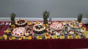 Nursing-Home-summer-party-celebration-cakes-display